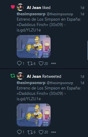 Al Jean comparte a thesimpsonsrp en Twitter