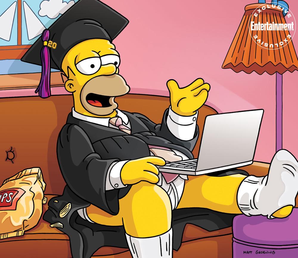 Homer Simpson da el discurso de graduación de 2020