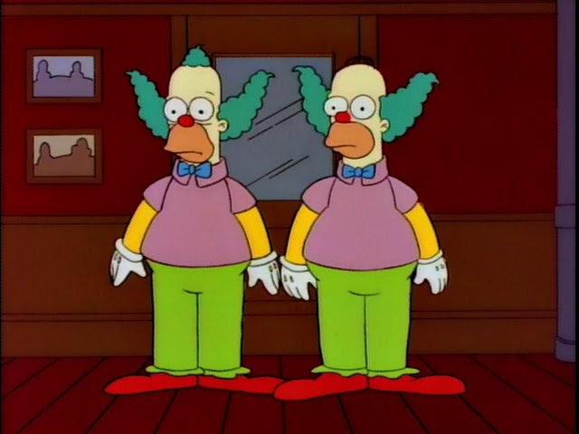 """Homer y Krusty en """"Homie, El Payaso"""""""
