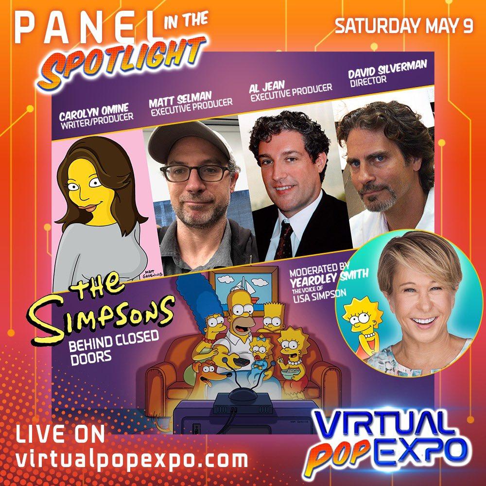 Los Simpson en la Virtual Pop Expo 2020.