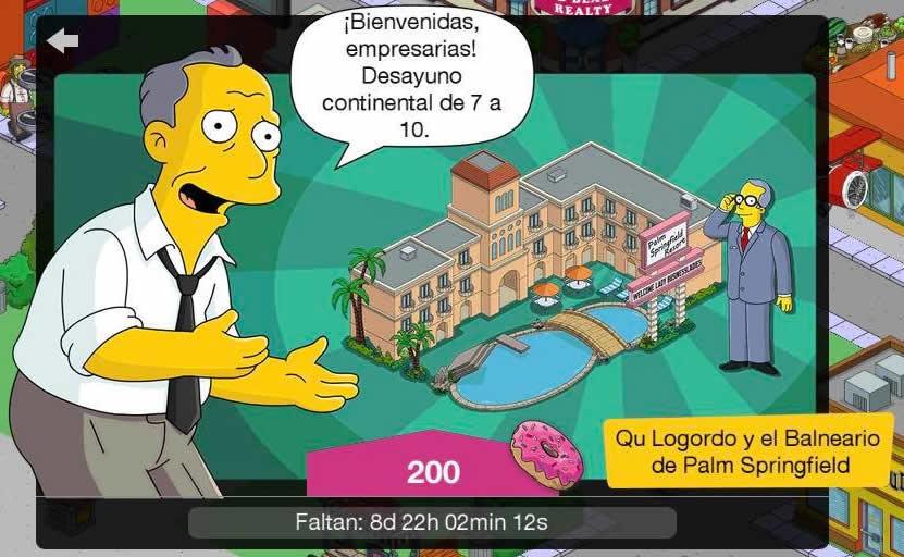 Los Simpson: Springfield - Qu Logordo y el Balneario de Palm Springfield