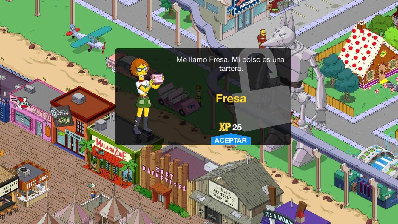 Los Simpson: Springfield - Juego De Juegos: Segunda Parte - Fresa