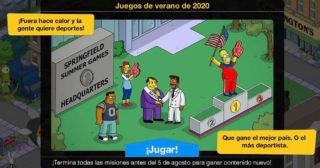 Actualización número 200 y nuevo minievento en Los Simpson: Springfield - Juegos de verano de 2020