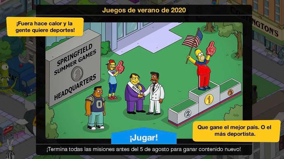 Los Simpson: Springfield - Juegos de verano 2020