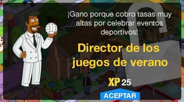 Los Simpson: Springfield - Director de los juegos de verano