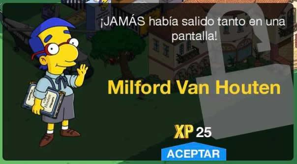 Los Simpson: Springfield - Milford Van Houten
