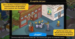 Nuevo minievento en Los Simpson: Springfield - El espíritu del jazz