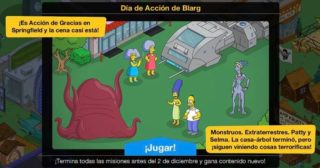 Nuevo minievento en Los Simpson: Springfield - Día de Acción de Blarg y Viernes Negro 2020