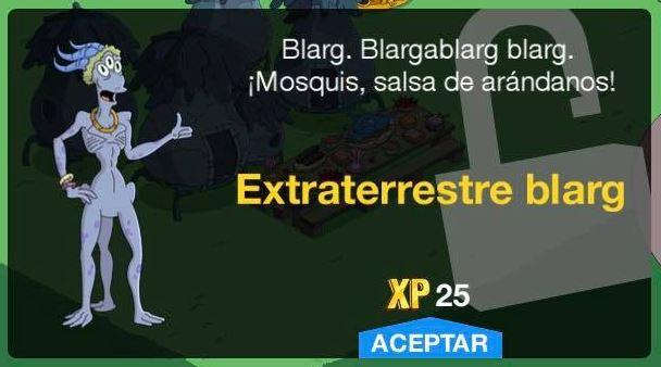 Los Simpson: Springfield - Extraterrestre blarg