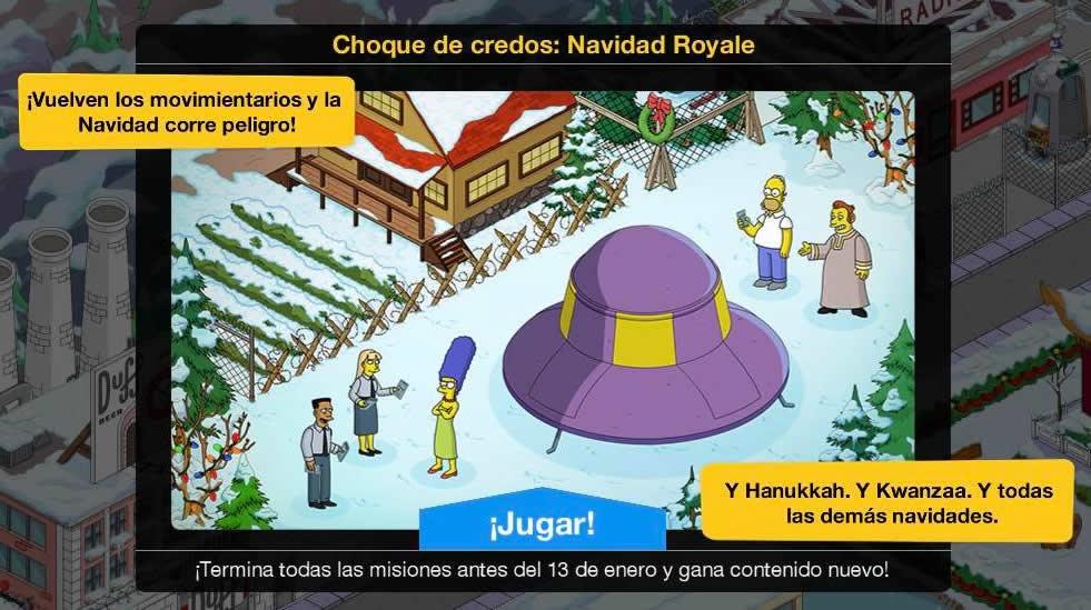 """""""Los Simpson: Springfield"""" - Choque de credos: Navidad Royale"""