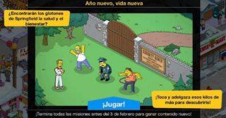 Nuevo minievento en Los Simpson: Springfield - Año nuevo, vida nueva