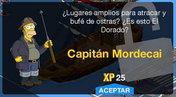 Los Simpson: Springfield - Capitán Mordecai