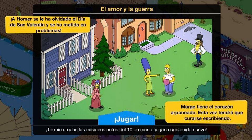 Los Simpson: Springfield - El Amor Y La Guerra