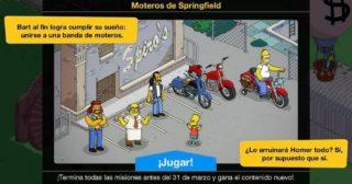 Nuevo minievento en Los Simpson: Springfield - Moteros De Springfield