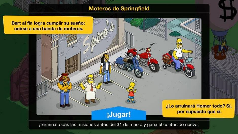 Los Simpson: Springfield - Moteros de Springfield