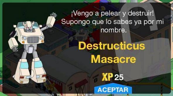 Los Simpson: Springfield - Destructicus Masacre