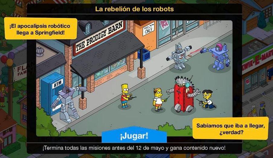 """""""Los Simpson: Springfield"""" - La rebelión de los robots"""