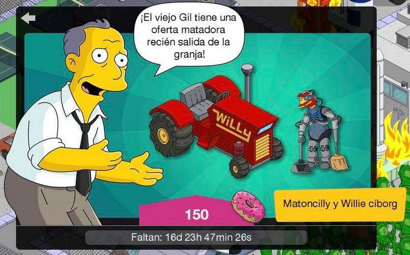 Los Simpson: Springfield - Willie Cíborg