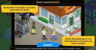 Nuevo minievento en Los Simpson: Springfield - Guerra Gastronómica
