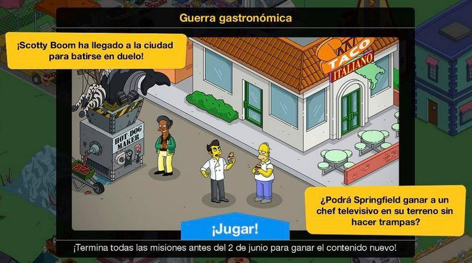 Los Simpson: Springfield - Guerra Gastronómica