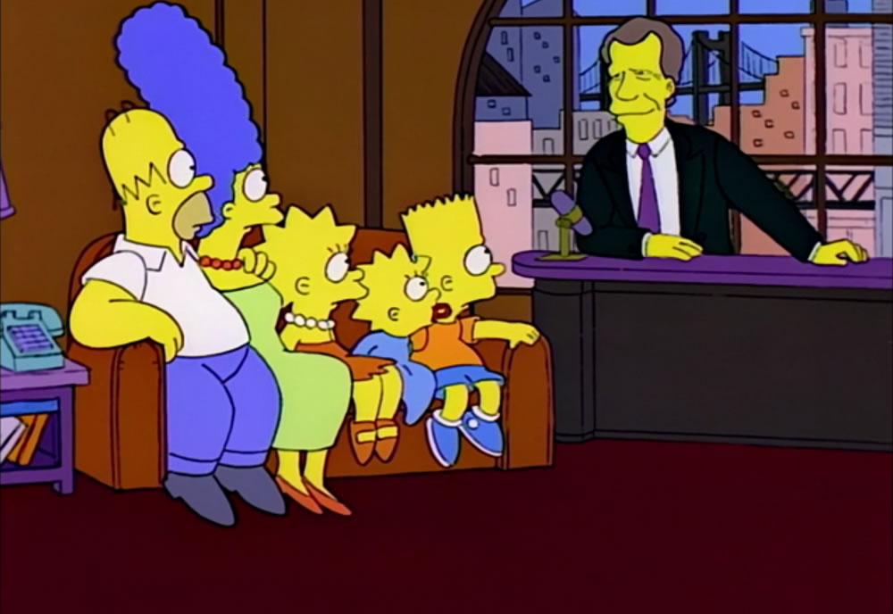 Los Simpson con David Letterman