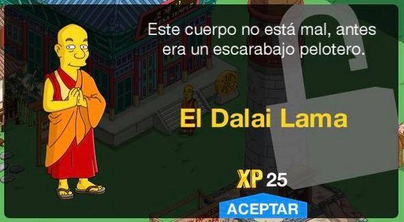 Los Simpson: Springfield - El Dalai Lama