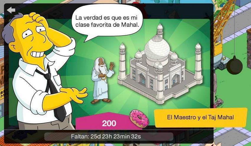 Los Simpson: Springfield - El Maestre y el Taj Mahal