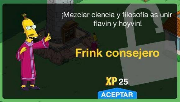 Los Simpson: Springfield - Frink consejero