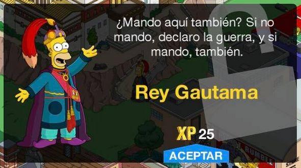 Los Simpson: Springfield - Rey Gautama