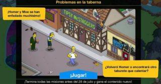 Nuevo minievento en Los Simpson: Springfield - Problemas en la taberna