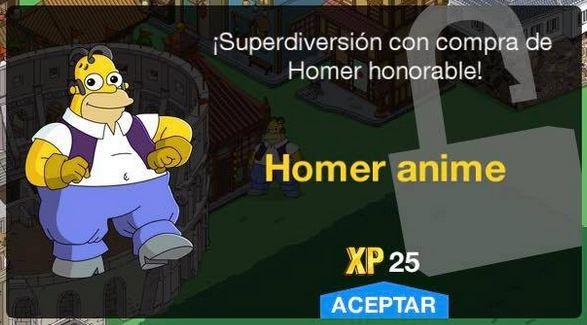 Los Simpson: Springfield - Homer Anime