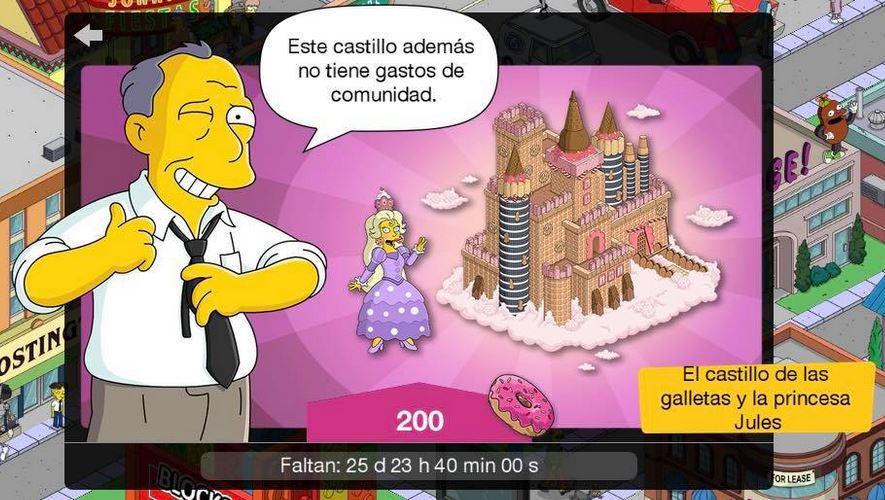Los Simpson: Springfield - El castillo de las galletas y la princesa Jules