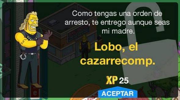Los Simpson: Springfield - Lobo, el cazarrecompensas