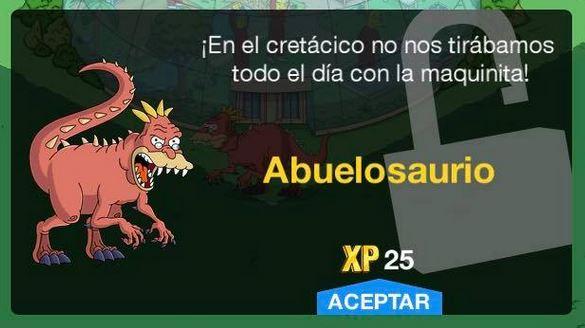 """Los Simpson: Springfield"" - Abuelosaurio"